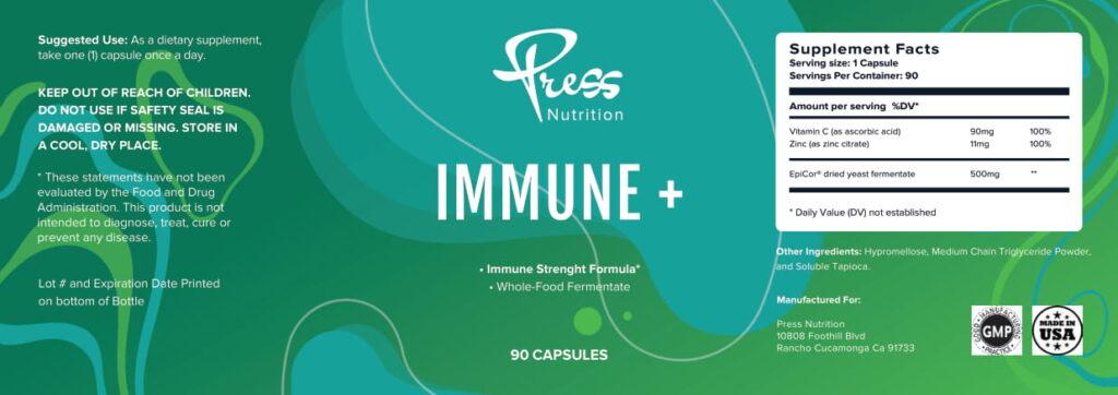 IMMUNE PLUS By PressNutrition
