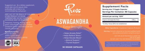 ORGANIC ASHWAGANDHA - Best PressNutrition 2021